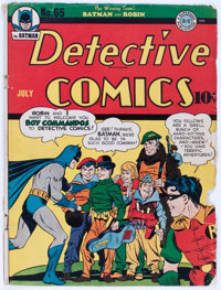 Detective Comics #65 Cover Only (DC, 1942)