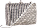 "Luxury Accessories:Bags, Judith Leiber Full Bead Black & Silver Crystal MinaudiereEvening Bag . Excellent Condition . 4"" Width x 3"" Heightx 2..."