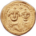 Ancients:Byzantine, Ancients: Heraclius (AD 610-641), with Heraclius Constantine (AD613-641). AV solidus (21mm, 4.12 gm, 6h). ...