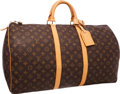 "Luxury Accessories:Bags, Louis Vuitton Classic Monogram Canvas Keepall 55 Weekender Bag .Excellent Condition. 21.5"" Width x 12"" Height x 9.5""..."