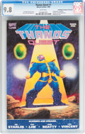 Modern Age (1980-Present):Superhero, Thanos Quest #1 Don/Maggie Thompson Collection pedigree (Marvel,1990) CGC NM/MT 9.8 White pages....