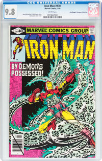 Iron Man #130 Don/Maggie Thompson Collection pedigree (Marvel, 1980) CGC NM/MT 9.8 White pages