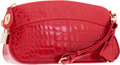 "Luxury Accessories:Bags, Louis Vuitton Red Alligator Lockit Clutch Bag. PristineCondition. 9.5"" Width x 5"" Height x 2.5"" Depth. ..."