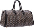 "Luxury Accessories:Accessories, Goyard Black Goyardine Canvas Croisere Bag. Very GoodCondition . 14"" Width x 8"" Height x 7"" Depth. ..."