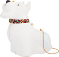 "Luxury Accessories:Bags, Judith Leiber Full Bead White Crystal Terrier Dog MinaudiereEvening Bag . Excellent to Pristine Condition . 4.5""Widt..."