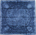 "Luxury Accessories:Accessories, Hermes 90cm Blue ""Jardins de Metamorphoses,"" by François Houtin Silk Scarf. Excellent Condition. 36"" Width x 36"" Lengt..."