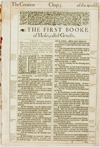 [Holy Bible]. One Hundred and Ninety-Two Leaves from the King James Bible. [London: