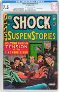 Golden Age (1938-1955):Horror, Shock SuspenStories #1 (EC, 1952) CGC VF- 7.5 Off-white to whitepages....