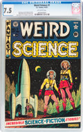 Golden Age (1938-1955):Science Fiction, Weird Science #7 (EC, 1951) CGC VF- 7.5 Off-white pages....