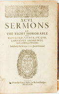 Books:Religion & Theology, Lancelot Andrewes. XCVI Sermons. London: Richard Badger, 1629. No edition stated. Quarto. Contemporary full leat...