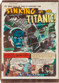 """EC Weird Science #6 """"Sinking of the Titanic!"""" Complete Story Silverprint Proof Group (EC, 1951).... (Total: 6..."""