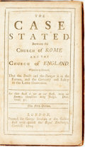 Books:Religion & Theology, [Charles Leslie]. The Case Stated, Between the Church of Rome and the Church of England, et al. London: George Strah...