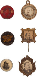 Political:Ferrotypes / Photo Badges (pre-1896), Grover Cleveland: Six Items....