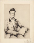 Political:3D & Other Display (1896-present), Abraham Lincoln: Artist Signed Etching....