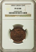 Liberia, Liberia: Republic Proof Cent 1896-H PR65 Red and Brown NGC,...