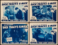 """Dick Tracy's G-Men (Republic, 1939). Title Lobby Card & Lobby Cards (3) (11"""" X 14"""") Chapter 15 --""""..."""