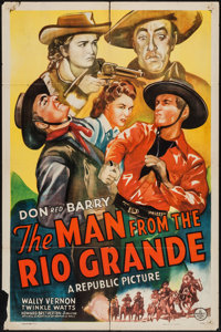 "The Man from the Rio Grande (Republic, 1943). One Sheet (27"" X 41"") & Lobby Card Set of 8 (11"" X..."