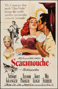 "Movie Posters:Swashbuckler, Scaramouche (MGM, 1952). One Sheet (27"" X 41""). Swashbuckler.. ..."