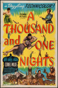 "Movie Posters:Adventure, A Thousand and One Nights (Columbia, 1945). One Sheet (27"" X 41"").Adventure.. ..."