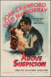 "Above Suspicion (MGM, 1943). One Sheet (27"" X 41"") Style D. Thriller"