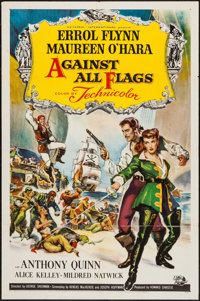 """Against All Flags (Universal International, 1952). One Sheet (27"""" X 41""""). Swashbuckler"""