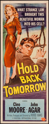 "Hold Back Tomorrow (Universal International, 1955). Insert (14"" X 36""). Drama"