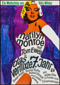 "Movie Posters:Comedy, The Seven Year Itch (Atlas, R-1966). German A1 (23.5"" X 33"").Comedy.. ..."