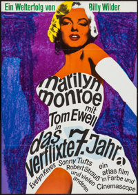 "The Seven Year Itch (Atlas, R-1966). German A1 (23.5"" X 33""). Comedy"