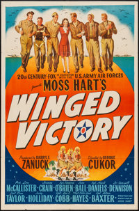 "Winged Victory (20th Century Fox, 1944). One Sheet (27"" X 41"") Style A. War"