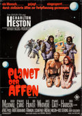 "Movie Posters:Science Fiction, Planet of the Apes (20th Century Fox, 1968). German A1 (23.25"" X 33""). Science Fiction.. ..."