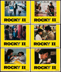 "Movie Posters:Sports, Rocky II (United Artists, 1979). Lobby Cards (6) (11"" X 14""). Sports.. ... (Total: 6 Items)"