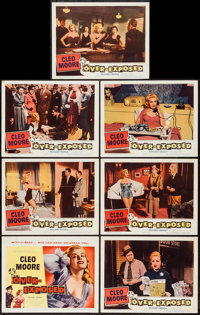 """Over-Exposed (Columbia, 1956). Title Lobby Card & Lobby Cards (6) (11"""" X 14""""). Bad Girl. ... (Total: 7..."""