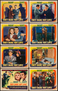 "Movie Posters:War, They Dare Not Love (Columbia, 1941). Lobby Card Set of 8 (11"" X14""). War.. ... (Total: 8 Items)"