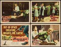 "20 Million Miles to Earth (Columbia, 1957). Title Lobby Card & Lobby Cards (3) (11"" X 14""). Science Fi..."