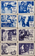 """Movie Posters:Serial, Captain Video, Master of the Stratosphere (Columbia, 1951). LobbyCard Sets of 4 (2) (11"""" X 14"""") Chapter 1 -- """"Journey into ...(Total: 8 Items)"""