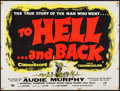 "Movie Posters:War, To Hell and Back (Universal International, 1955). British Quad (30""X 40""). War.. ..."