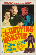 "Movie Posters:Horror, The Undying Monster (20th Century Fox, 1942). One Sheet (27"" X41""). Horror.. ..."