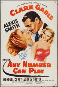 """Any Number Can Play (MGM, 1949). One Sheet (27"""" X 41""""). Drama"""