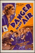 "Movie Posters:Mystery, Danger on the Air (Walter Futter, R-1942). One Sheet (27"" X 41"").Crime Club Mystery.. ..."