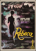 """Movie Posters:Hitchcock, Rebecca (CB Films, R-1969). Spanish One Sheet (27"""".5 X 39.5""""). Hitchcock.. ..."""