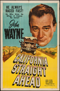 "California Straight Ahead (Film Classics, R-1948). One Sheet (27"" X 41""). Action"