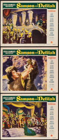 "Movie Posters:Adventure, Samson and Delilah (Paramount, 1949). Lobby Cards (3) (11"" X 14"").Adventure.. ... (Total: 3 Items)"