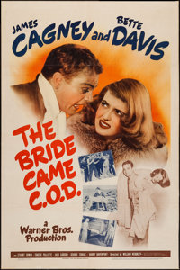 "The Bride Came C.O.D. (Warner Brothers, 1941). One Sheet (27"" X 41""). Comedy"