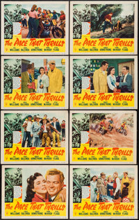 """The Pace that Thrills (RKO, 1952). Lobby Card Set of 8 (11"""" X 14""""). Sports. ... (Total: 8 Items)"""