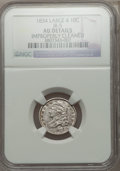 Bust Dimes, 1834 10C Large 4, JR-5, R.1, -- Improperly Cleaned -- NGC Details.AU. NGC Census: (0/2). PCGS Population (0/1). ...