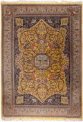 Rugs & Textiles:Carpets, A PERSIAN TABRIZ SILK AND WOOL RUG, circa 1900. 15 feet long x 12feet wide (365.7 x 457.2 cm). WEIDER HEALTH AND FITNESS ...