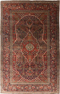 Rugs & Textiles:Carpets, A PERSIAN KASHAN RUG, circa 1910. 7 feet long x 4-1/2 feet long(213.3 x 137.1 cm). WEIDER HEALTH AND FITNESS COLLECTION. ...