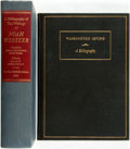 Books:Reference & Bibliography, [Bibliography] [Washington Irving] [Noah Webster]. Pair ofBibliographies. Various publishers and dates. Original clothbind... (Total: 2 Items)
