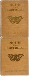 Books:Natural History Books & Prints, Gene Stratton-Porter. Moths of the Limberlost. Doubleday, Page, 1912. First edition. Two copies. Quartos. Original c... (Total: 2 Items)