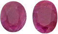 Estate Jewelry:Unmounted Gemstones, Unmounted Rubies. ... (Total: 2 Items)